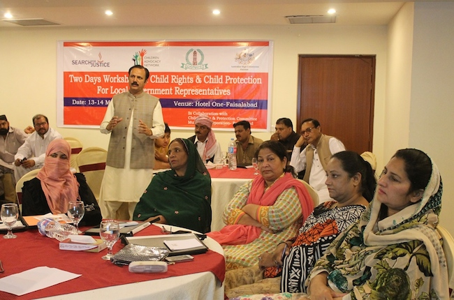Advocacy Workshop to Protect Children, Pakistan