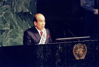 Rev. Takeyasu Miyamoto addressing the United Nations