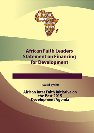 African Faith Leaders Statement on Financing for Development thumbnail