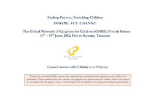 Outcomes of the Global Consultations with Children on Poverty thumbnail